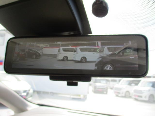 荷物をたくさん載せても後ろの確認が出来る便利なスマートルームミラー!