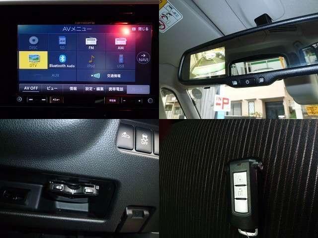 三菱 eKスペースカスタム 660 カスタム T eアシスト メモリーナビ TV ETC