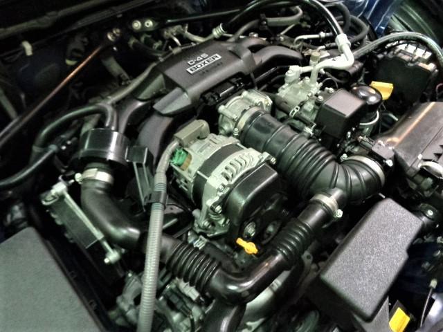 R D-4SBOXERエンジン6速パドルシフトSYMSステンマフラーSHOWAサスキットカーボンリアウイングブラックレッドステッチインテリアフルセグナビTVバックカメラHIDLEDライトレッドLEDテール(37枚目)
