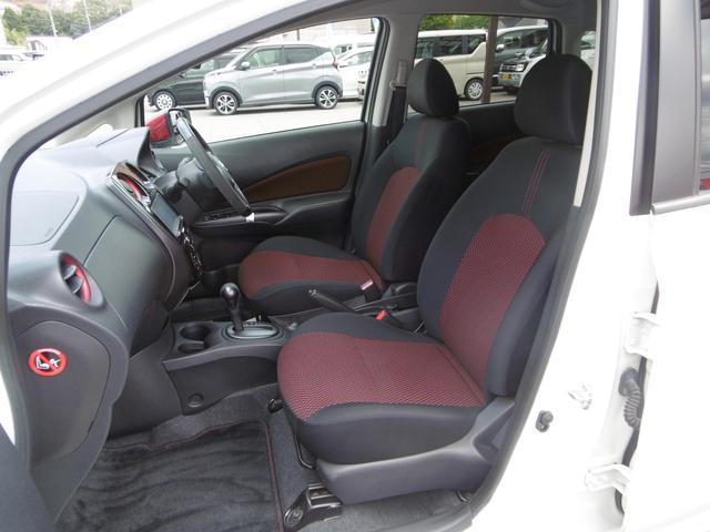 赤黒のツートーンシートがかっこいい!