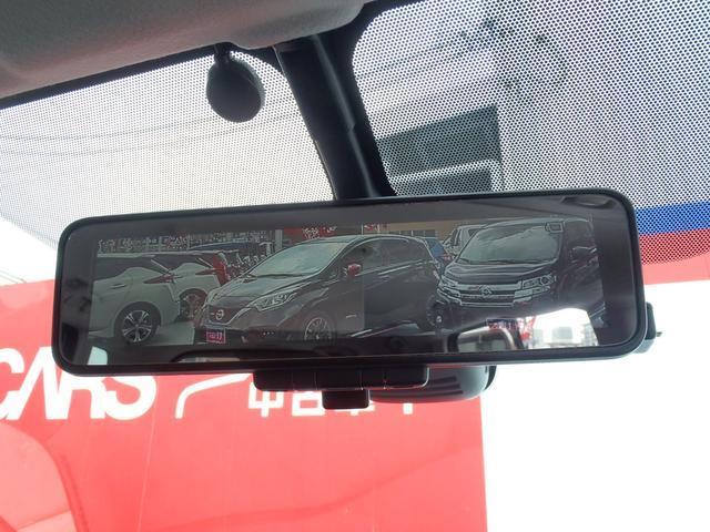 カメラの映像が映るスマートルームミラーで後部席に乗車されてても後方確認ばっちり見えます。