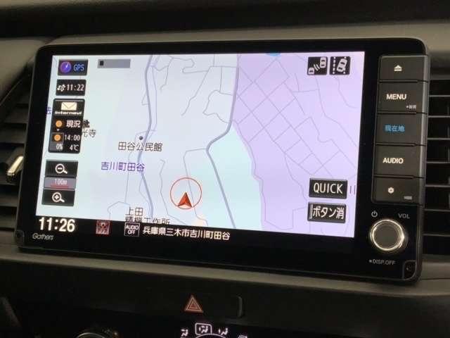 e:HEVホーム Honda CONNECT for Gathers ナビ装着用スペシャルパッケージ 純正Gathers9インチナビ(VXU-205FTI) ETC LEDヘッドライト 前後ドライブレコーダー 4WD(3枚目)