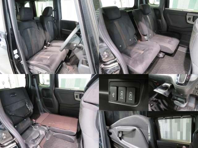 後部座席もゆったりくつろげます。長時間のドライブも楽々!
