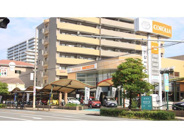 在庫約40台!カローラ大阪市内唯一のU-Car展示場。地下鉄長堀鶴見緑地線「今福鶴見」から徒歩5分。