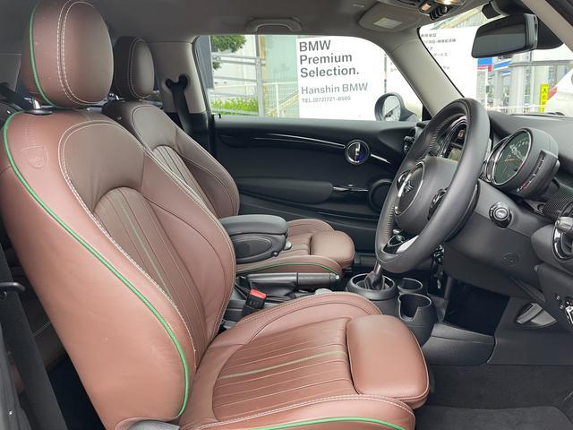 クーパーSD 60イヤーズエディション 60イヤーズエディションワンオーナー車LEDヘッドライトブラウンレザーシートヒーターバックモニターパークディスタンスコントロールコンフォートアクセス純正AWドライビングモードミラーETC(42枚目)