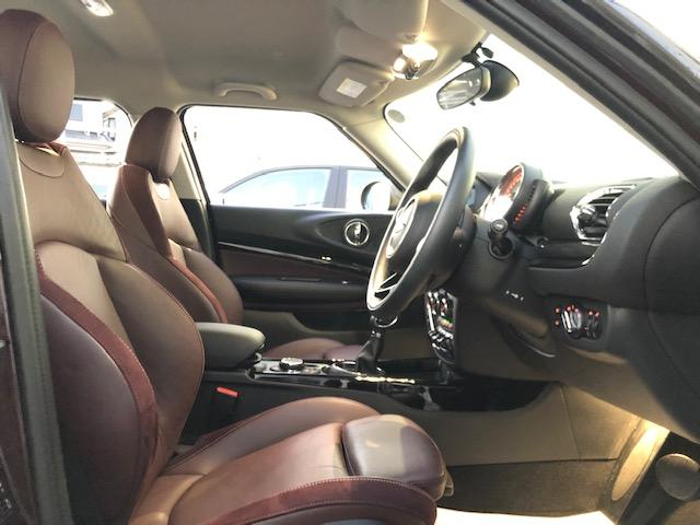 クーパー クラブマン 純HDDナビ・ワンオーナー・ベーガンディ革・シートヒーター・アイドリングストップ・メモリー機能付電動シート・ETC・フォグライト・純正AW・ステップトロニック・ブラックルーフ・ドライビングモードF54(50枚目)