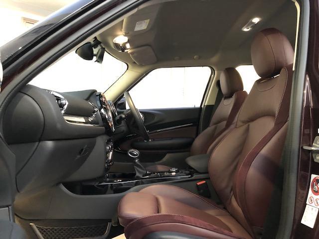 クーパー クラブマン 純HDDナビ・ワンオーナー・ベーガンディ革・シートヒーター・アイドリングストップ・メモリー機能付電動シート・ETC・フォグライト・純正AW・ステップトロニック・ブラックルーフ・ドライビングモードF54(51枚目)