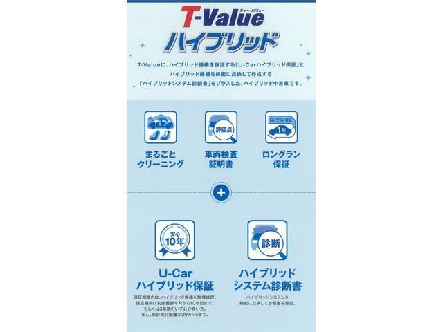 T-valueハイブリッド車両です。