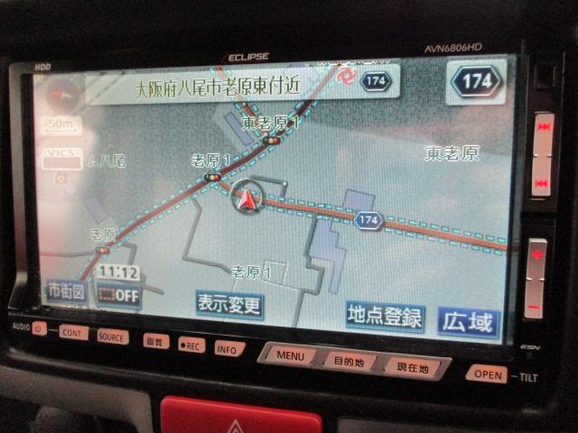 ジョインターボ HDDナビ CD ABS車 ターボ MD ミュージックサーバー リアワイパー キーレス ヘッドライトレベライザー 電動格納ミラー ルーフコンソールボックス プライバシーガラス セキュリティアラーム(8枚目)