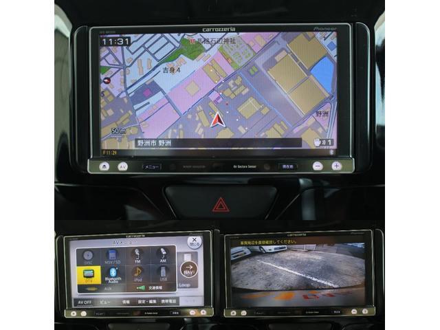 カスタムRS SA ナビ バックカメラ 両側電動スライドドア 追突被害軽減ブレーキ スマアシ カロッツェリアナビ 地デジ DVD再生 Bluetooth対応 CD録音 バックカメラ 両側電動スライドドア スマートキー(10枚目)