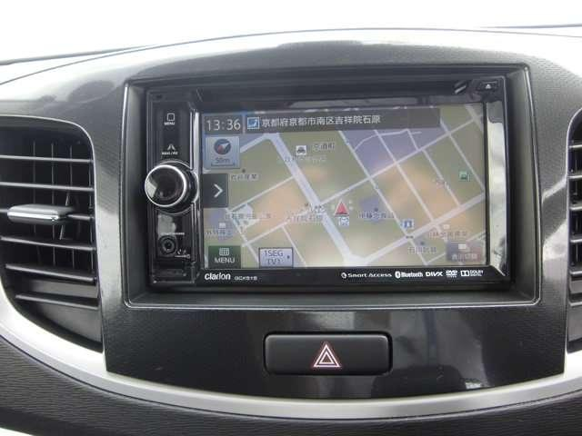初めての行き先でも安心できるナビゲーションを装備、フルセグTVの受信も可能