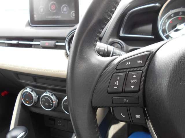 ハンドルに装備されているハンドルスイッチで、手を放さずにオーディオのコントロールが可能です。