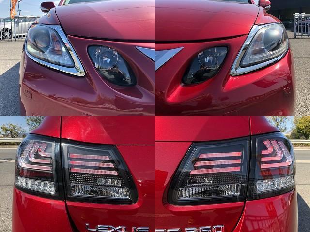 GS350 バージョンI HDDナビ・CD/Mサーバー/ETC・Bモニ・HID・Rフィルム・禁煙車・本革シート・スピンドルエアロ・前席パワーシート・TEIN車高調・19AW・社外ヘッドライト&テール(6枚目)