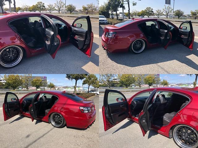GS350 バージョンI HDDナビ・CD/Mサーバー/ETC・Bモニ・HID・Rフィルム・禁煙車・本革シート・スピンドルエアロ・前席パワーシート・TEIN車高調・19AW・社外ヘッドライト&テール(17枚目)