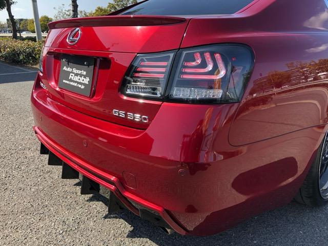 GS350 バージョンI HDDナビ・CD/Mサーバー/ETC・Bモニ・HID・Rフィルム・禁煙車・本革シート・スピンドルエアロ・前席パワーシート・TEIN車高調・19AW・社外ヘッドライト&テール(36枚目)