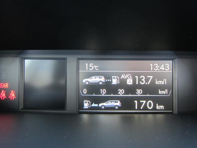 この画面は、車両の燃費状況を表示しております