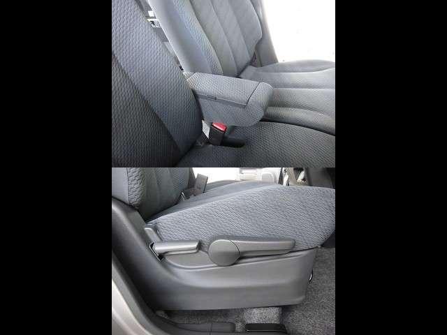 シートリフターでシートの高さ調整ができ、アームレストでゆったりした姿勢が取れます。