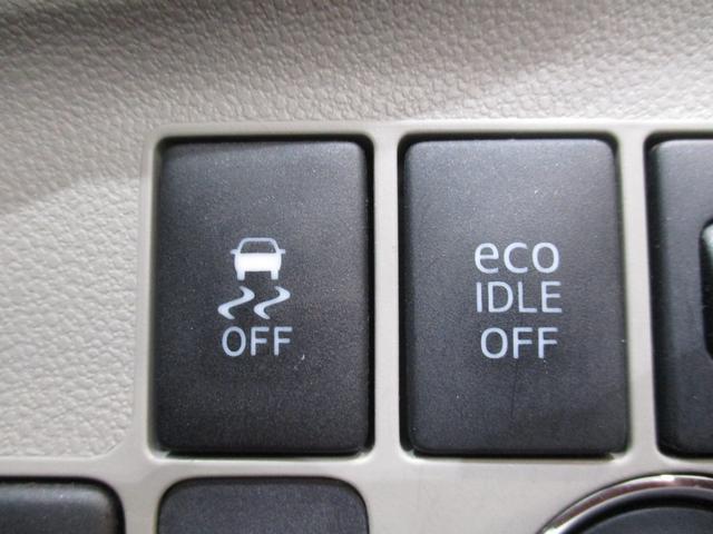 横滑り防止装置やエコアイドルのオン・オフ切替ボタンです☆