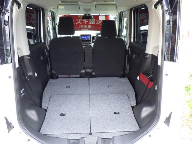 後席シートを倒せば大きな荷物も安心のラゲッジスペースに