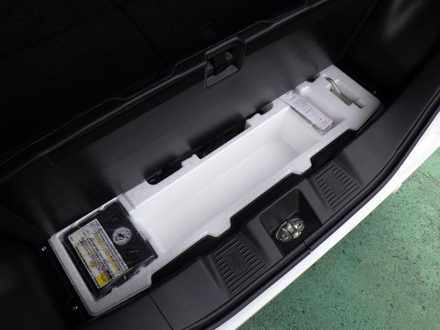 万が一のタイヤパンク応急修理キットを装備