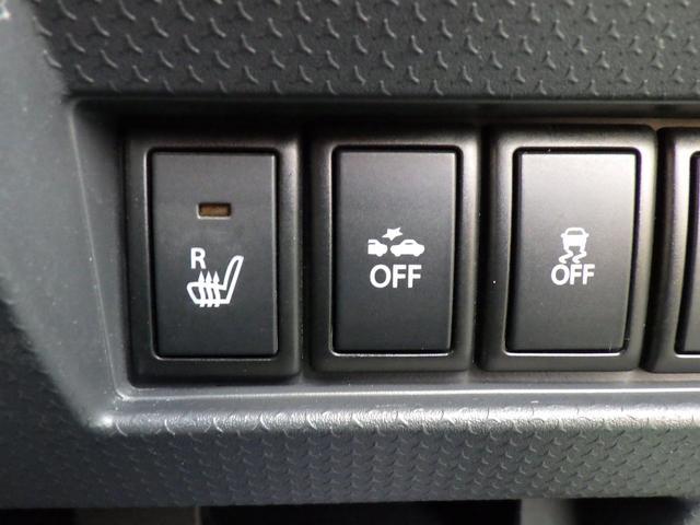 左からシートヒーター、レーダーブレーキサポートオフスイッチ、横滑り防止装置のオフスイッチ!