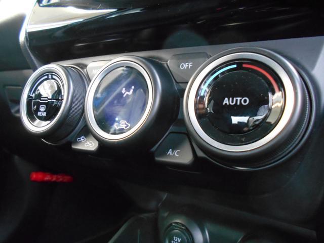 設定温度に応じて、風量や冷暖、吹き出し口を自動で切り替えてくれる、フルオートエアコン装備。