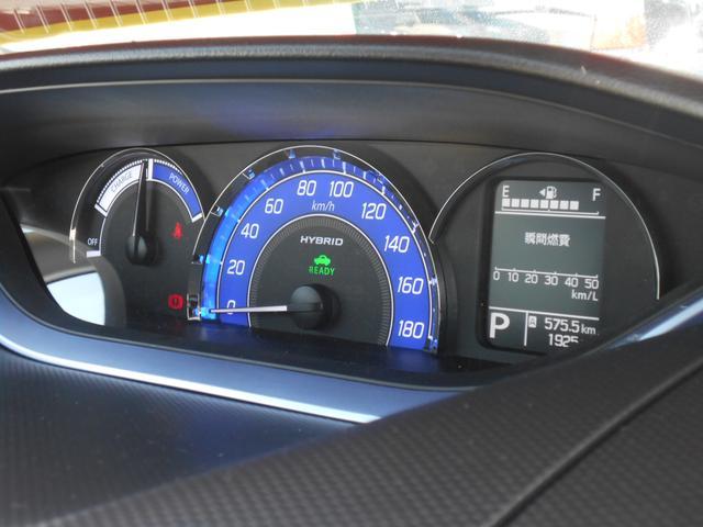 燃費情報やエネルギーの流れを一目で確認できるメータ類。