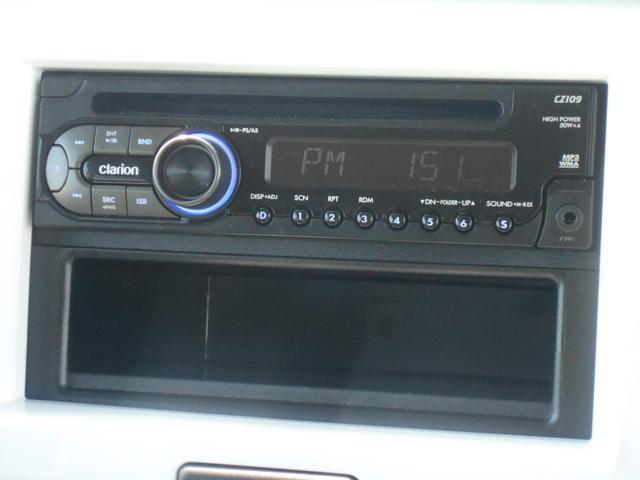 スズキ純正オプションのクラリオン製1DIN・CDプレーヤーを装着しております。