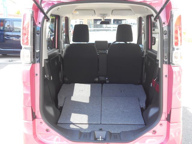 後席を両方折りたためば自転車など大きな荷物も載せれる充分なスペースを確保。