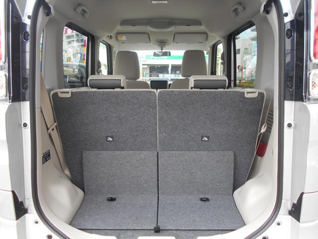 リヤシートを両側倒すと、さらに荷室スペースが広がります♪