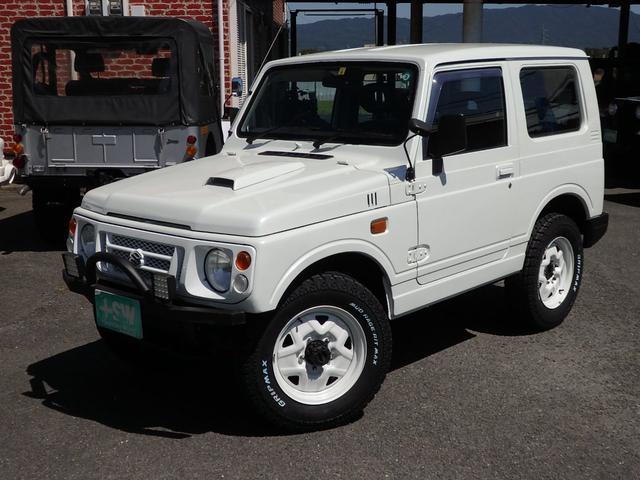 ワイルドウインド 社外フロントバンパー 新品タイヤ ホワイトに全塗装(2枚目)