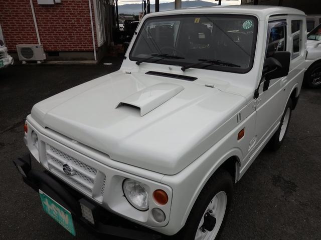 ワイルドウインド 社外フロントバンパー 新品タイヤ ホワイトに全塗装(5枚目)