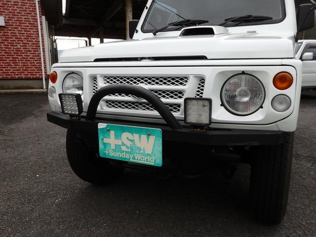 ワイルドウインド 社外フロントバンパー 新品タイヤ ホワイトに全塗装(6枚目)
