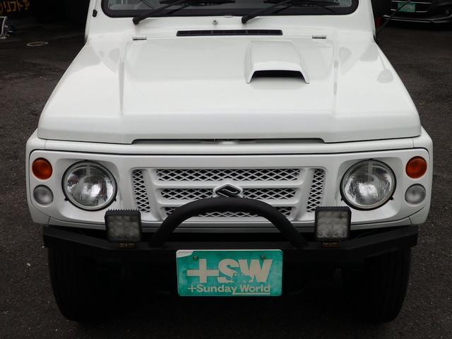 ワイルドウインド 社外フロントバンパー 新品タイヤ ホワイトに全塗装(21枚目)
