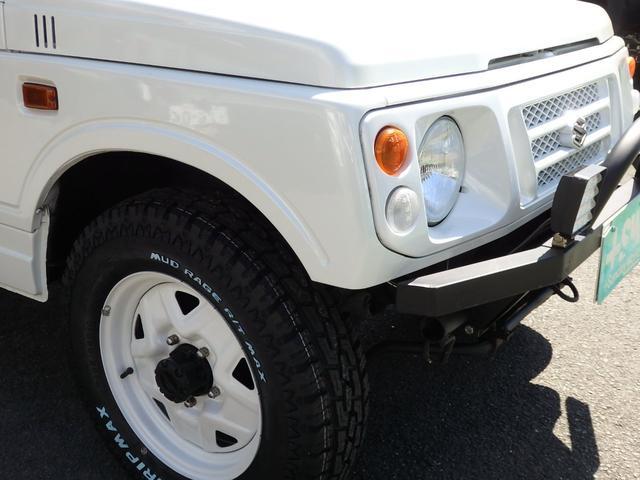 ワイルドウインド 社外フロントバンパー 新品タイヤ ホワイトに全塗装(22枚目)