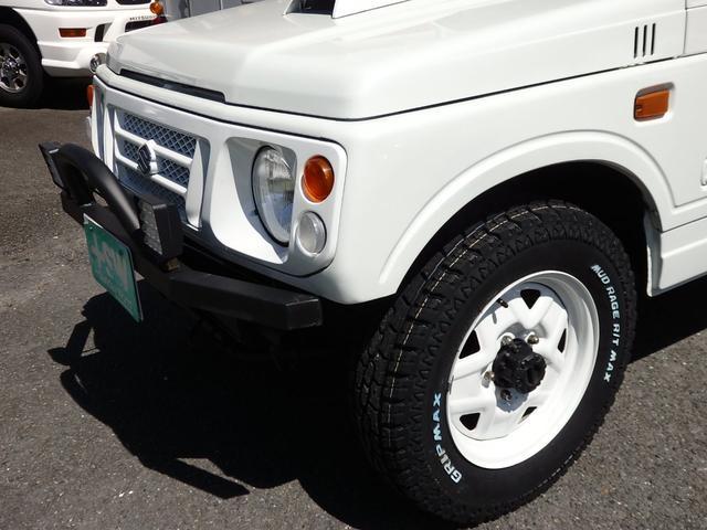 ワイルドウインド 社外フロントバンパー 新品タイヤ ホワイトに全塗装(27枚目)