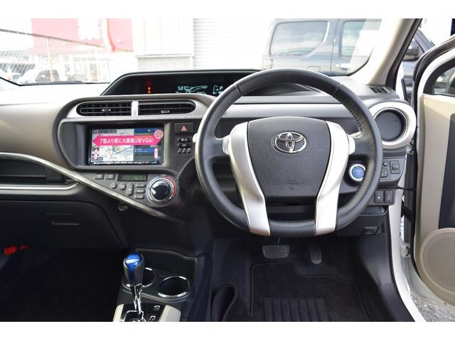 トヨタ アクア GビューティーPKG1オナ16AW車高調ブラックルーフ