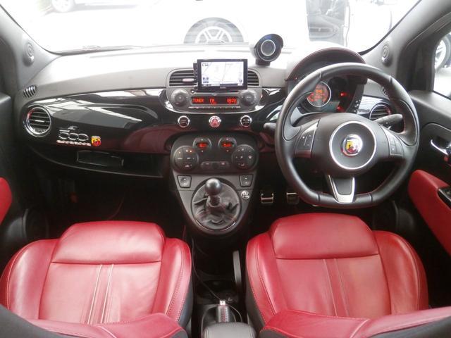 アバルト アバルト アバルト500 エッセエッセ&ブレンボーキット 赤革 ナビ スポーツマフラー