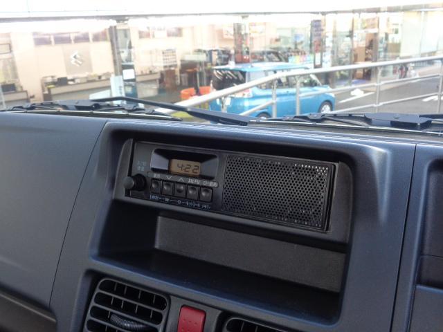 KCエアコンパワステ 3型 パートタイム4WD 純正ラジオ(10枚目)
