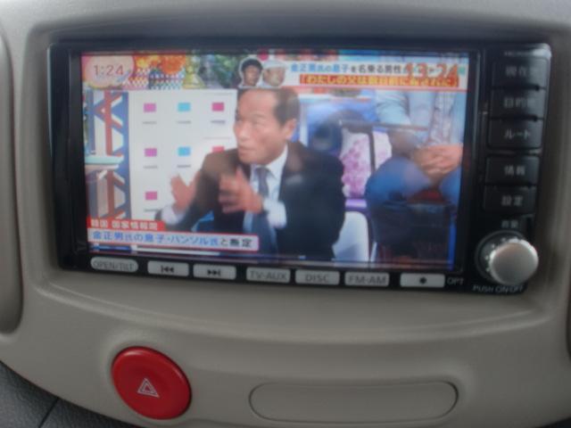 日産 キューブ 15X Vセレクション HDDナビDVD再生 フルセグTV
