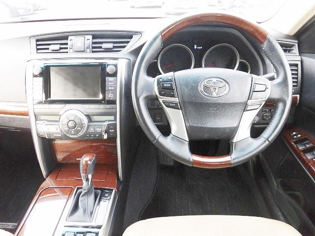 トヨタ マークX プレミアム ワンオーナー メーカーHDDナビ スマートキー