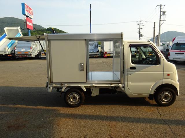 スズキ キャリイバン 4WD 保冷バン 移動販売ベース車 リヤ跳上げ式扉 左右ドア