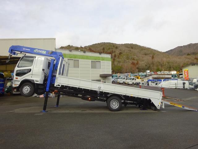 三菱ふそう ファイター セルフクレーン 増トン 7トン積み ワイド ベッド付