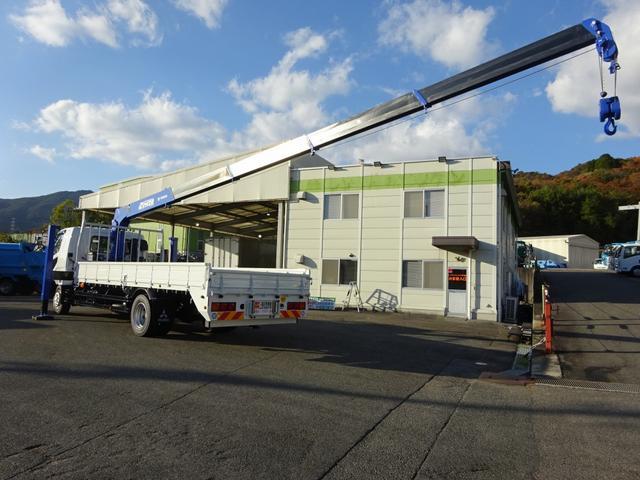 三菱ふそう ファイター セルフクレーン 5段 増トン ワイド幅 6.9t積み