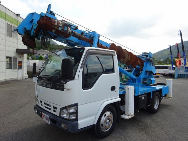 いすゞ エルフトラック 穴掘建柱車 タダノ DT620 施工管理装置付
