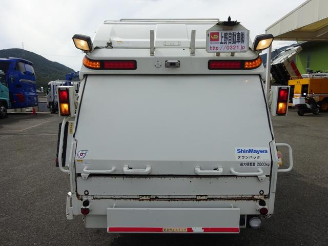 日野 デュトロ 2t プレス式パッカー 4.3m3 連続積込作動 汚水タンク