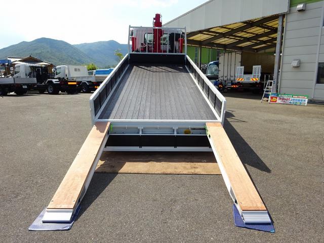 三菱ふそう ファイター 増トン セルフクレーン 5段 ワイド ベッド付 6.8t積み