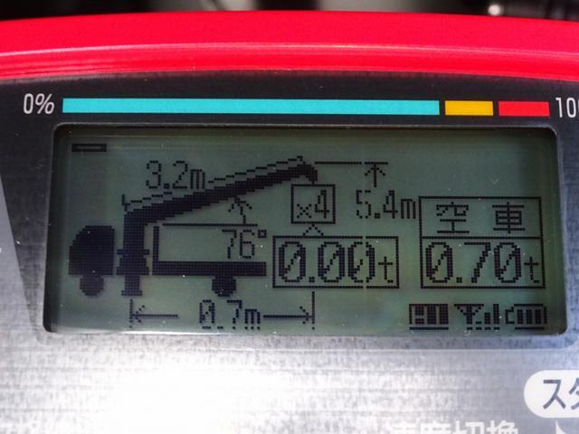 ※液晶連動ラジコン(荷重表示付) ⇒ラジコンの主な機能 ◆定格荷重や現在の荷重、負荷率等の情報が手元で確認可