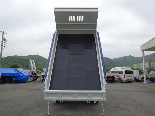 土砂ダンプ 電動コボレーン 新明和工業 角底一方開 標準 ベッドレス 3.5トン積み(8枚目)