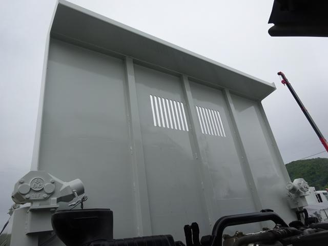 土砂ダンプ 電動コボレーン 新明和工業 角底一方開 標準 ベッドレス 3.5トン積み(16枚目)